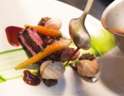 Boulestin Private Dining Food Image Steak Snails Vegetables
