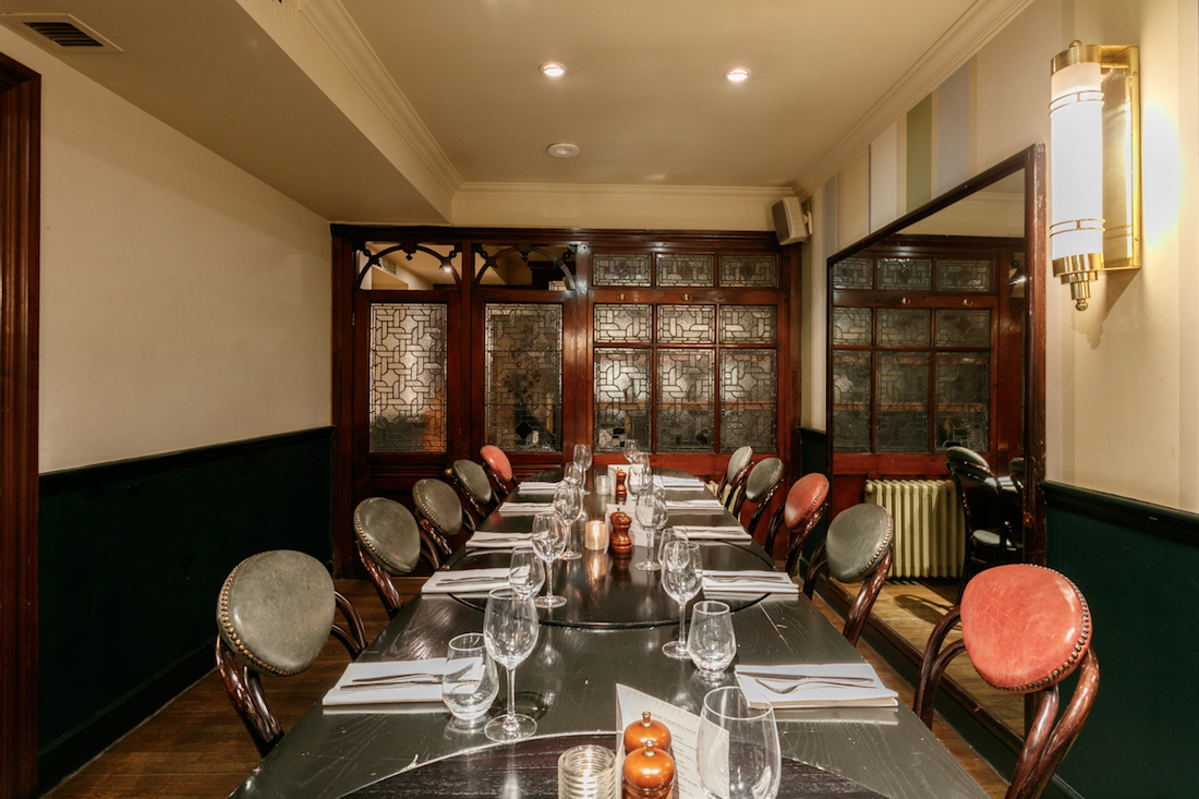 Luxury private dining rooms at browns mayfair for Best private dining rooms uk