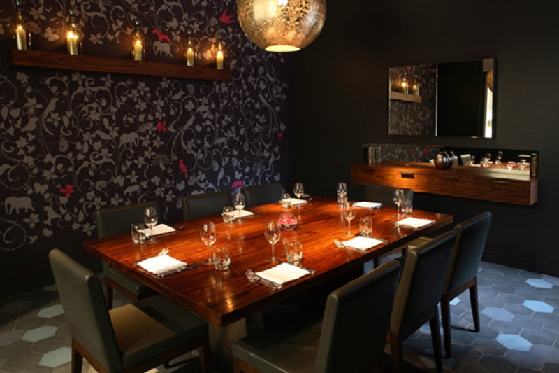 Luxury private dining rooms at cinnamon kitchen for Best private dining rooms uk