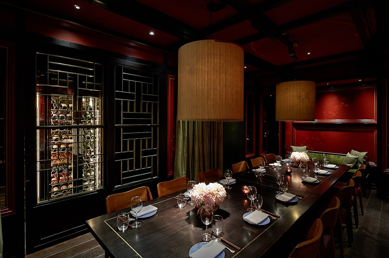 luxury private dining rooms at hakkasan mayfair