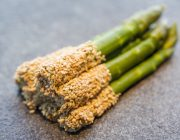 Hutong Food Image Grilled asparagus dressed with white sesame