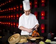Hutong Food Image Peking Duck with chef