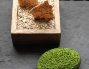 LEnclume Food Image Sheep's milk stLEnclume Smoked cod roe parsley flatbread copy