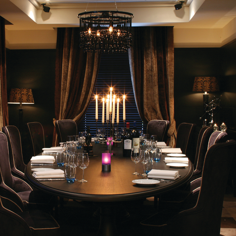Where are the best private dining rooms within two hours for Best private dining rooms uk