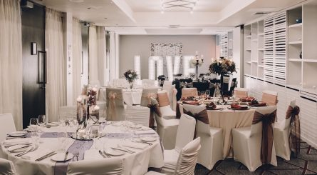 Malmaison Glasgow Private Dining Room Wedding Image