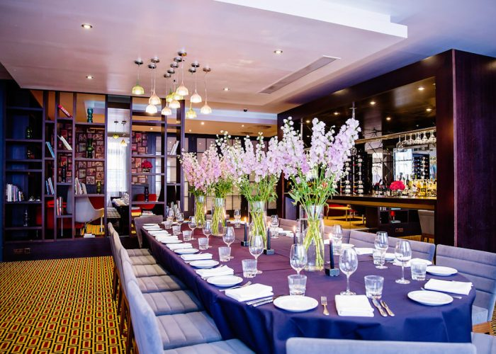 Luxury private dining rooms at malmaison london for Best private dining rooms uk