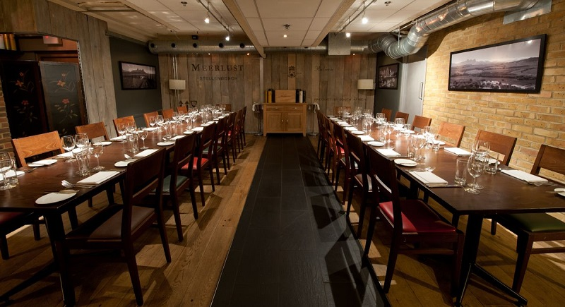 Luxury private dining rooms at vivat bacchus farringdon for Best private dining rooms uk