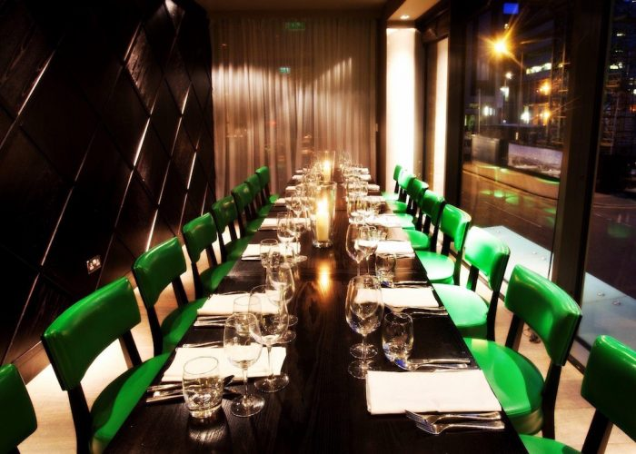 luxury private dining room at piccolino restaurant