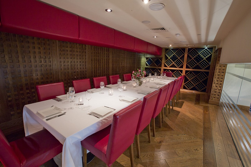 Piccolino Exchange Square   Private Dining Room Image.