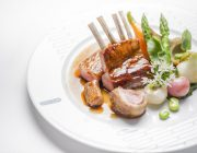 rivea-london-food-image-rib-saddle-of-milk-fed-lamb-spring-vegetables-and-herb-pesto