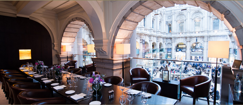 luxury private dining rooms at the royal exchange