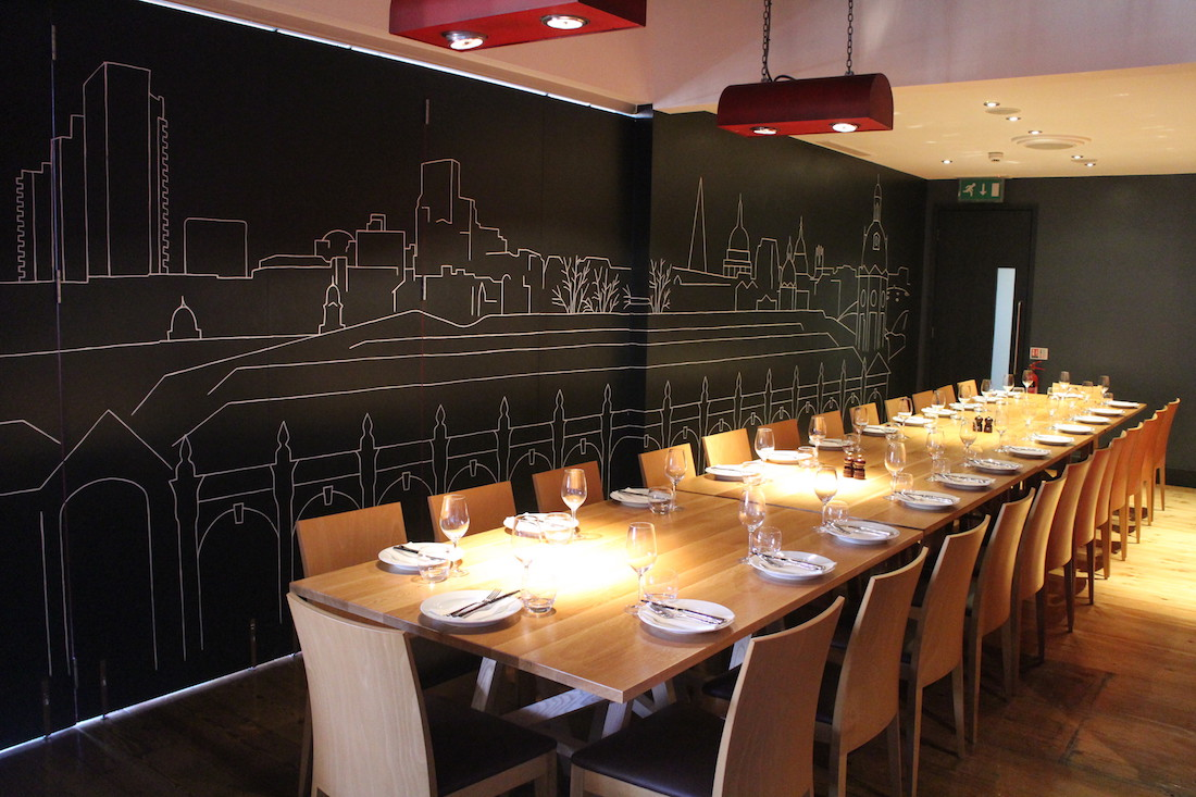 Luxury private dining rooms at smiths of smithfield for Best private dining rooms uk