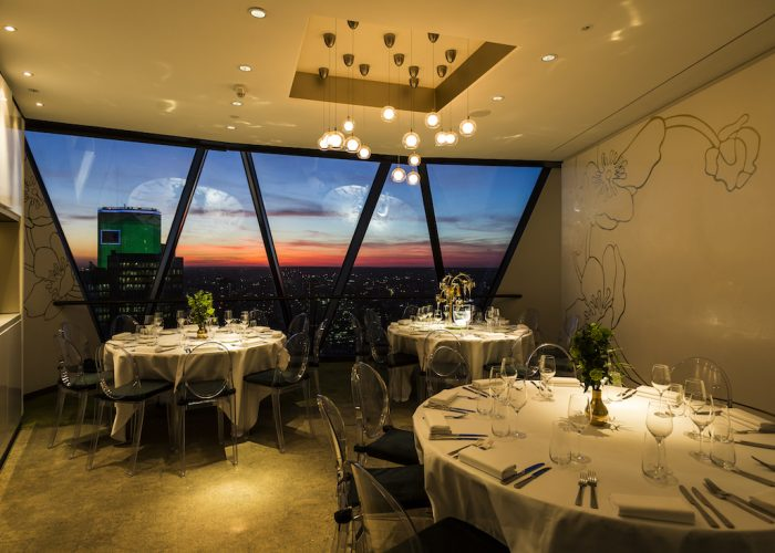Luxury private dining rooms at searcys at the gherkin for Best private dining rooms uk