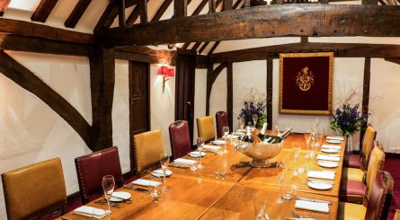 Private Dining in the Vicars Room, upstairs at The Hinds Head, Bray