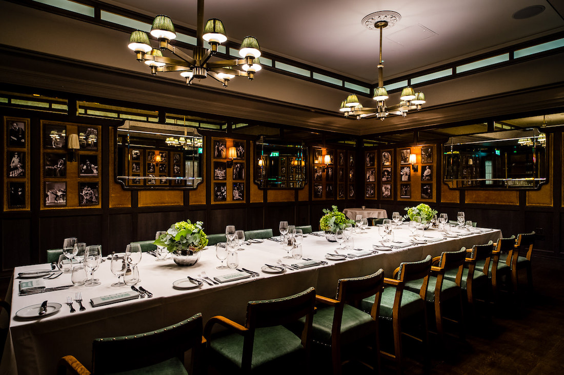 Luxury private dining rooms at the ivy market grill for Restaurants with private dining rooms