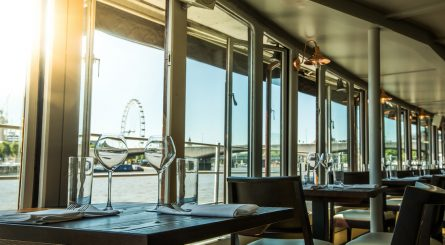 The Yacht View Over Thames With London Eye In Background 1