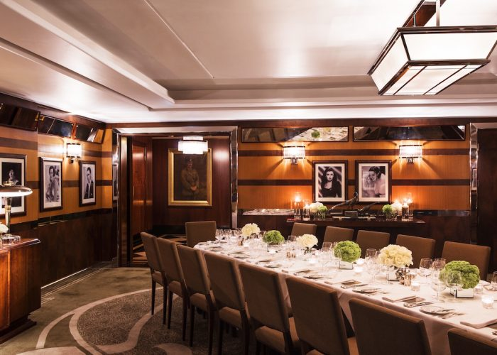 Luxury private dining rooms at the lotos room at the beaumont for Best private dining rooms nyc 2016