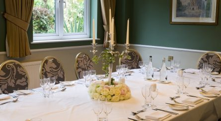 The Fallibroome Private Dining at Alderley Edge Hotel.