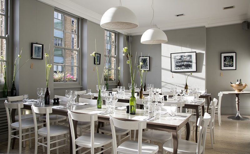 Luxury private dining rooms at the modern pantry for Best private dining rooms uk
