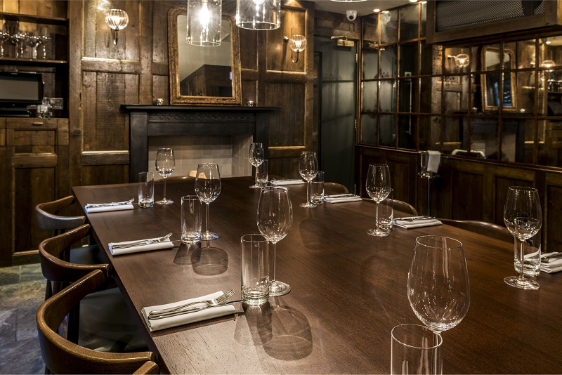 Cool private dining rooms london Small dining rooms london