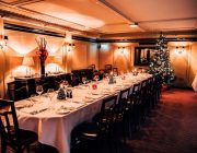 Villandry St James's Larger Private Dining Room Table Set For Christmas Meal