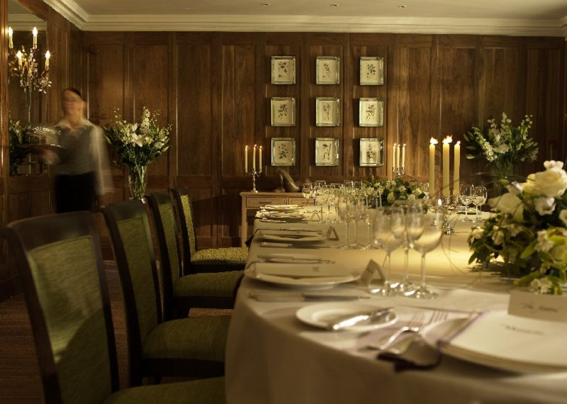 Le Manoir aux Quat'Saisons private dining room in Oxfordshire