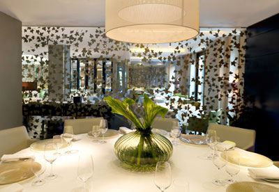 Interior of the Greenhouse restaurant, Mayfair