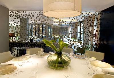 Interior of the Greenhouse restaurant, Mayfair