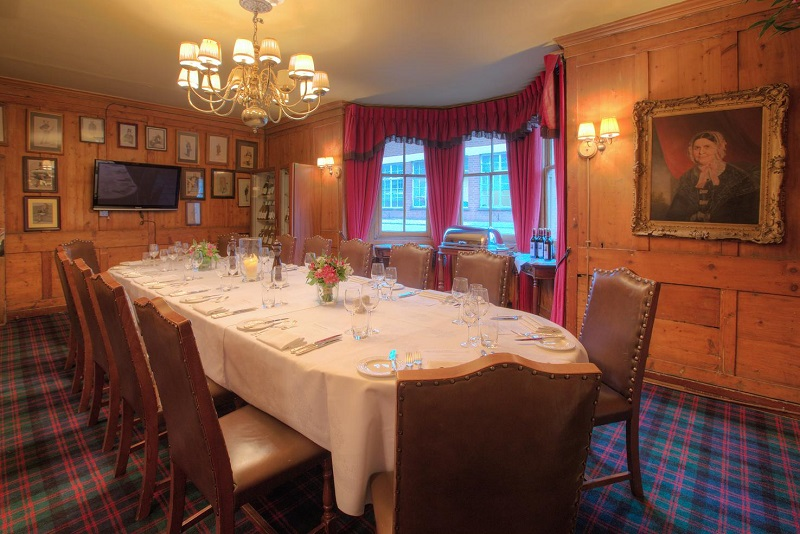 Interior of the boardroom at the guinea grill