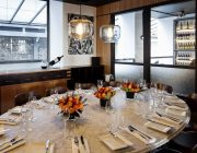 Heddon Street Kitchen   Private Dining Room Image Set Table With Wine.