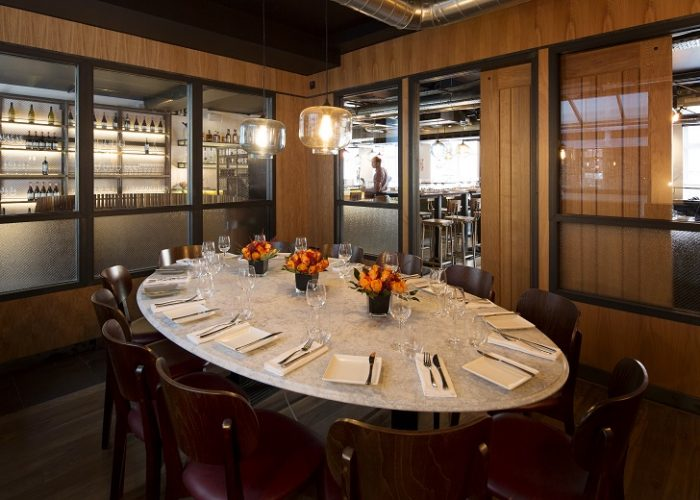 Great Heddon Street Kitchen Private Dining Room With View Into Restaurant.