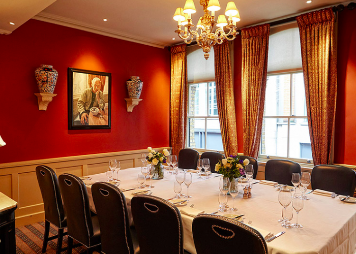 Luxury private dining rooms at bentley s restaurant for Best private dining rooms uk