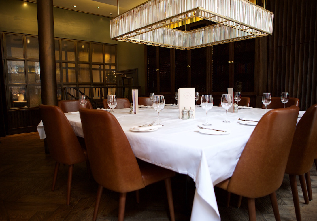 Luxury private dining rooms at gusto for Best private dining rooms uk