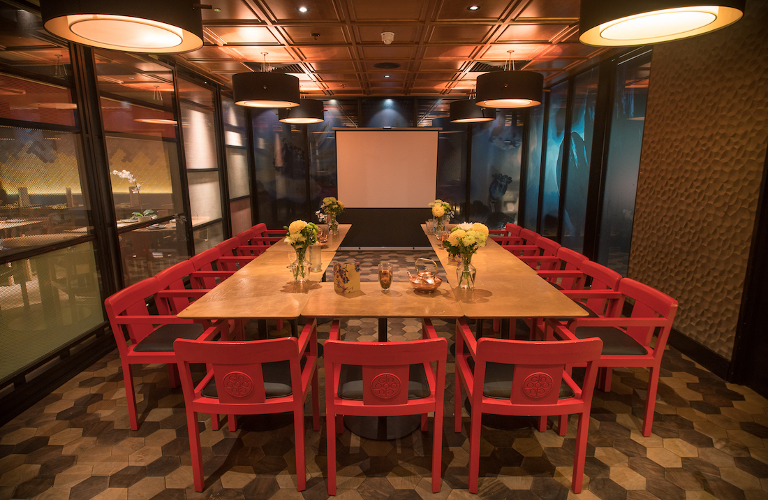 luxury private dining rooms at ping pong - shepherd's bush