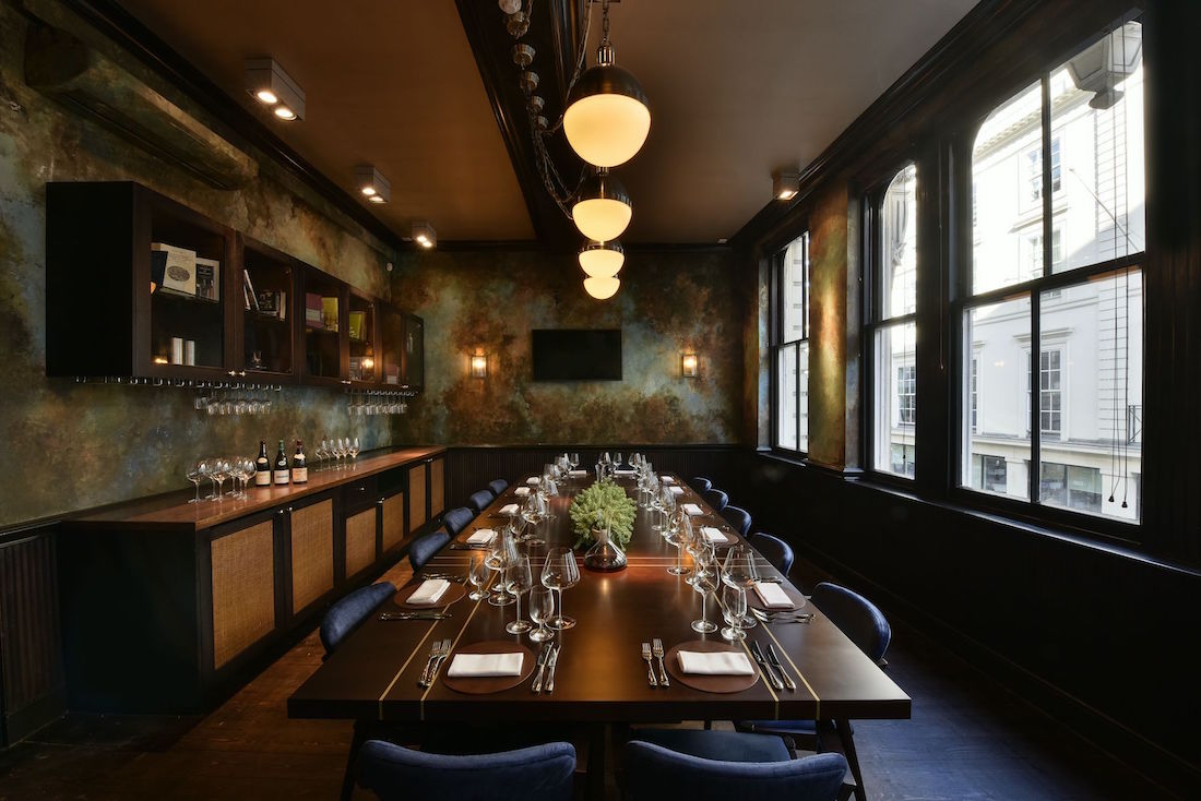 Luxury private dining rooms at cabotte for Best private dining rooms uk