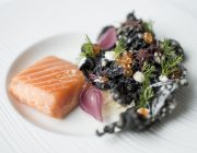 Peninsula Food Image Hot Smoked Salmon kohlrabi horseradish tapioca