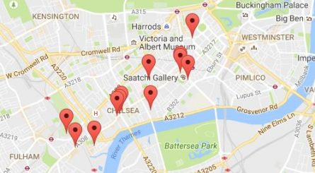 Private Dining Rooms Chelsea Map