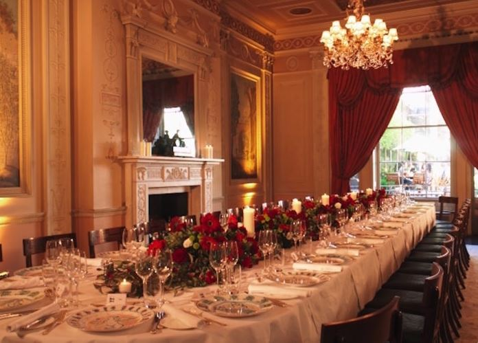 the best private dining rooms in the west end with a wow