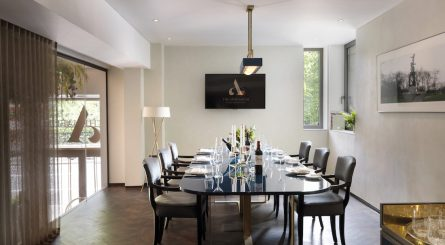 The Athenaeum Hotel Residences Private Dining Room Image Daytime. 1