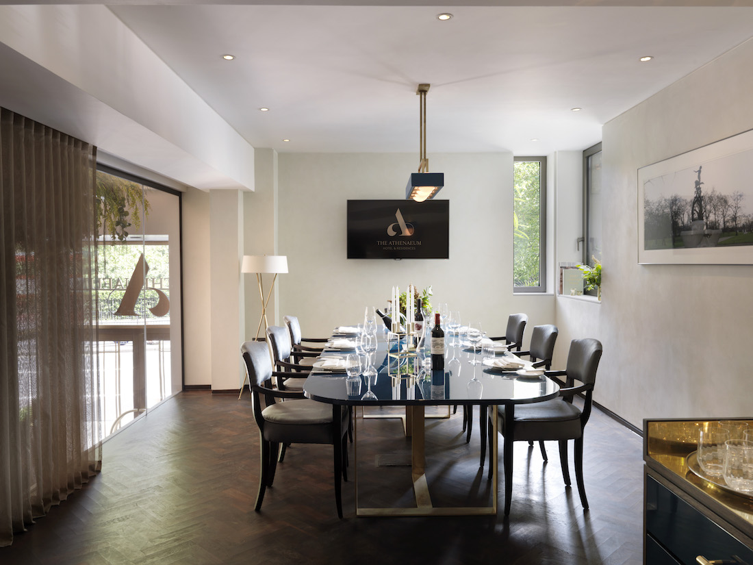 luxury private dining rooms at the athenaeum hotel