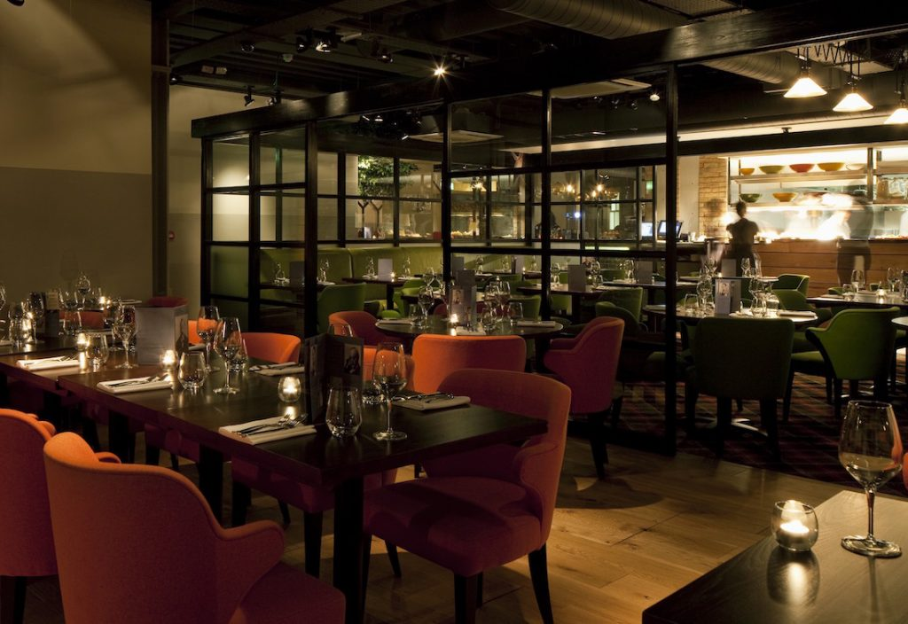 The Orange Room is ideal for private dining in Shoreditch