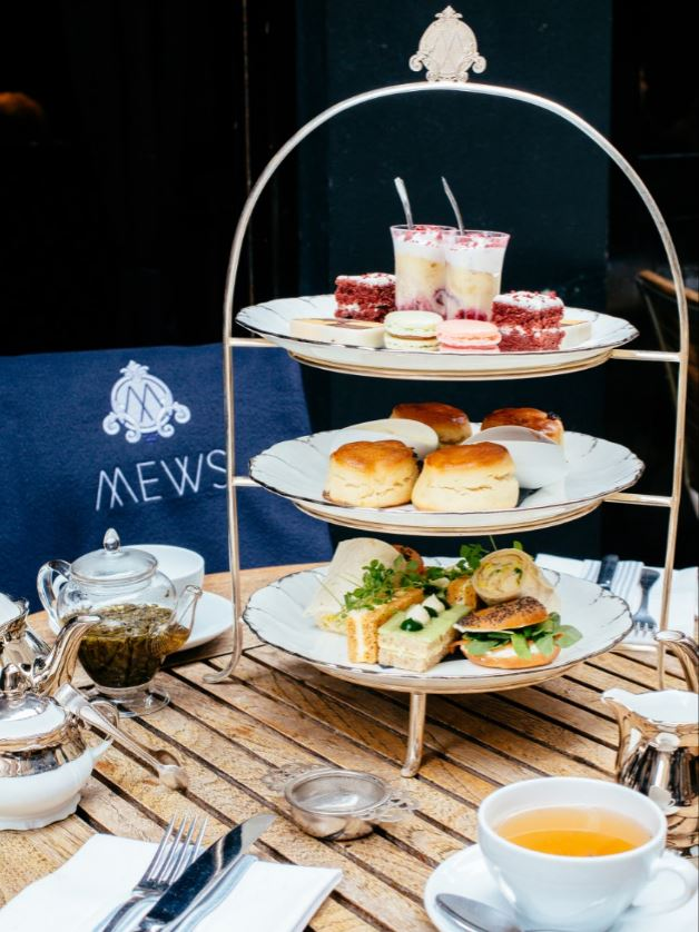 Afternoon Tea Stand at Mews of Mayfair