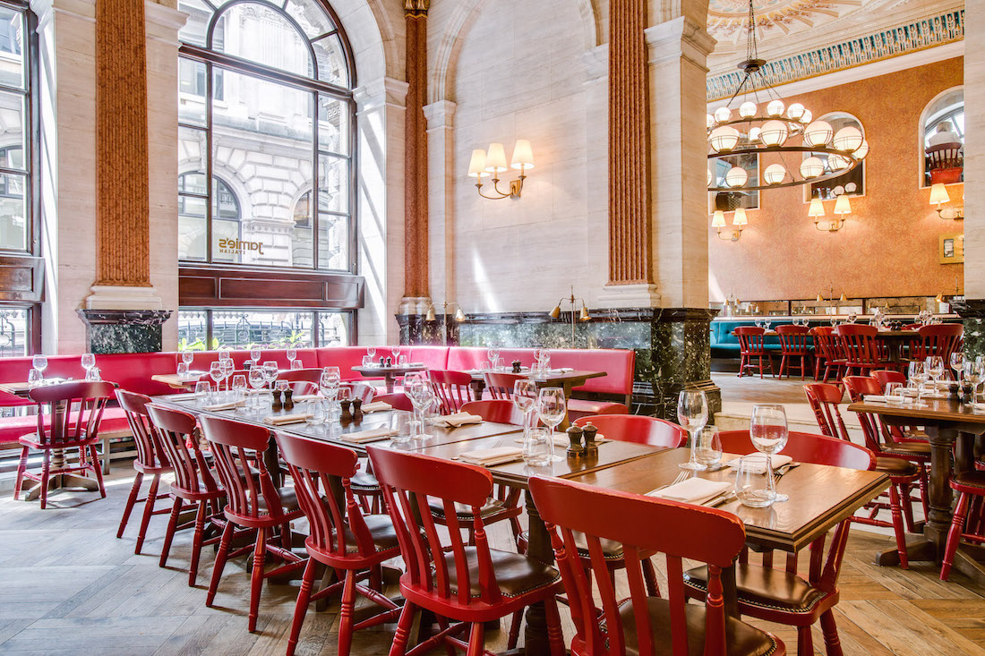 Private Dining Rooms at Jamie's Italian Threadneedle Street - Private Dining Rooms