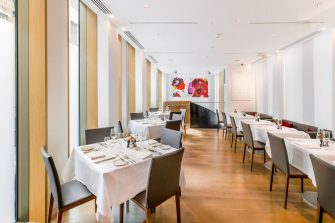 private dining room in bonhams restaurant mayfair