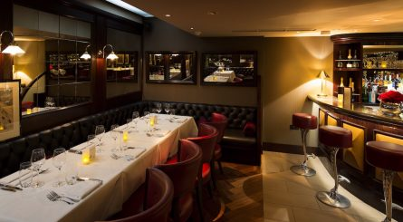 The interior of the private dining rooms at Galvin Bistrot De Luxe - Marylebone - London NW1