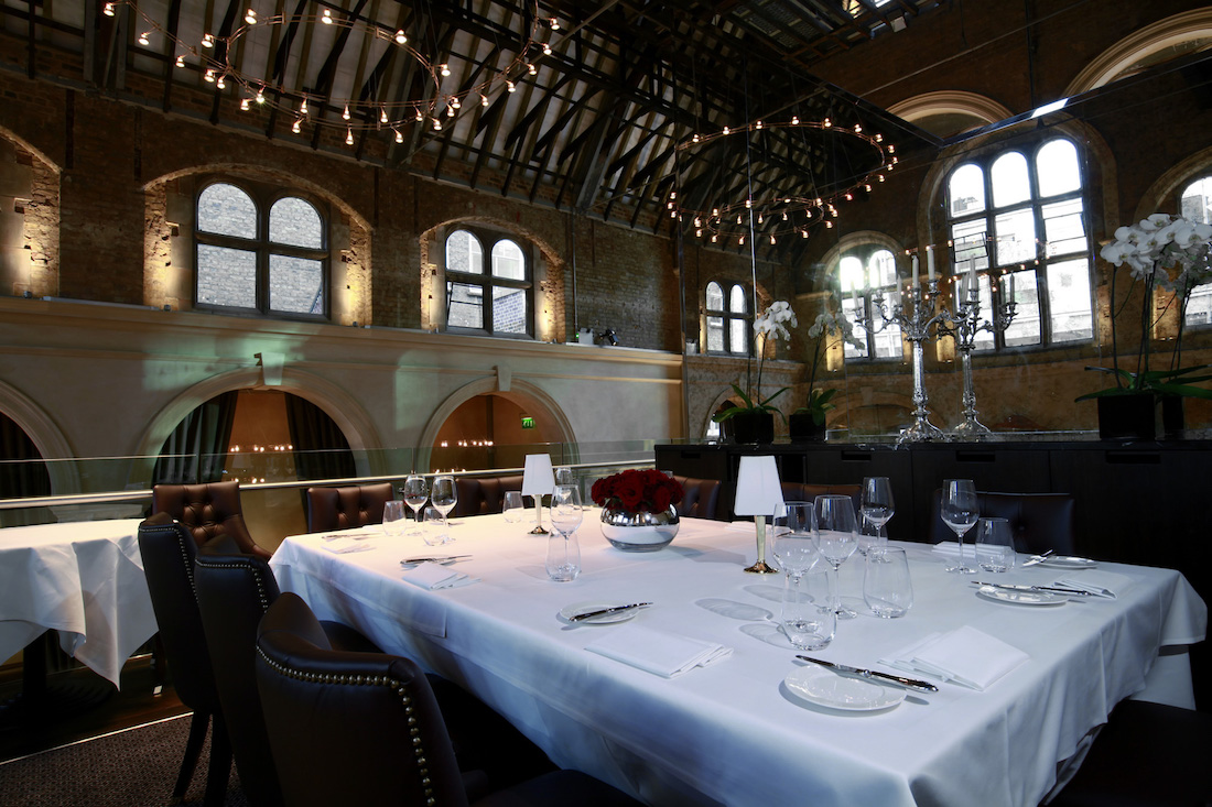 Interior of the Private Dining Rooms at Galvin La Chapelle - Spitalfields - London E1
