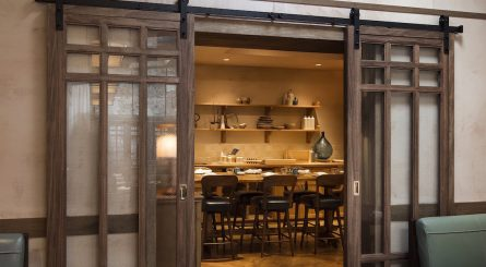 Interior of Private Dining room at Luca Italian Restaurant - Clerkenwell - London EC1