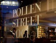 Pollen Street Social Entrance Nameplate