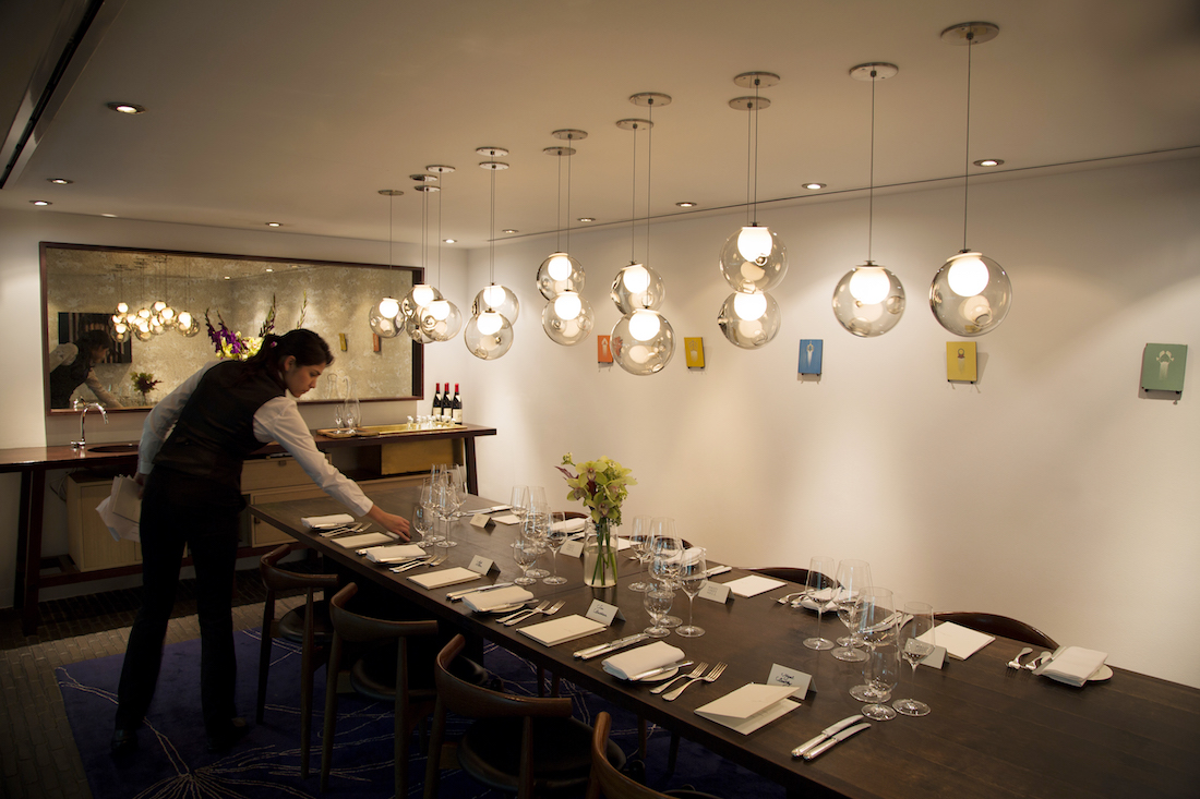 Private dining rooms at pollen street social mayfair for Best private dining rooms uk