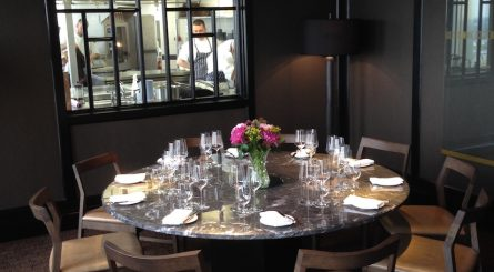 The Chef's Table in the luxury private dining rooms at City Social - London EC2N